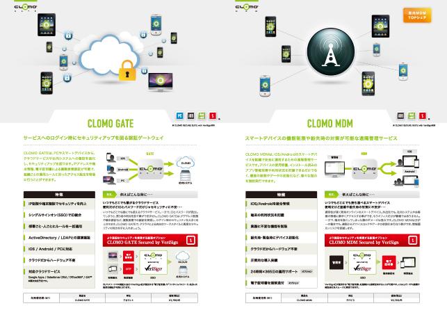 IT関連企業・クラウドサービスパンフレットデザイン実績3p