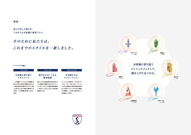 外壁・建材メーカーサービスパンフレットデザイン3P実績/メーカー