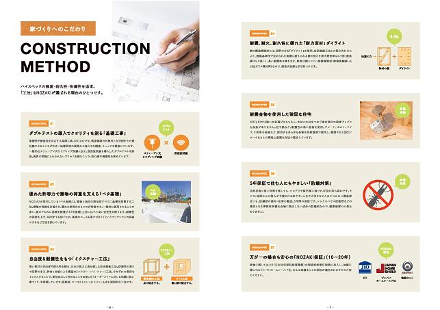 住宅建築・建設関連会社/パンフレット会社案内デザイン4P実績