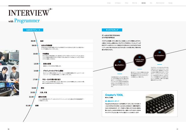 採用パンフレット・リクルーティングツールデザイン実績/ゲーム・エンターテイメント関連