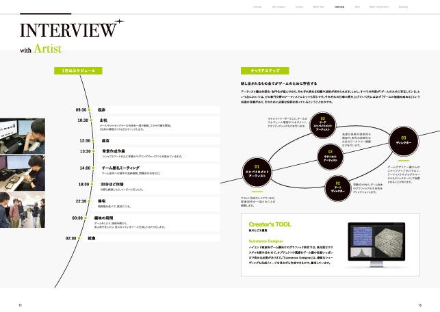リクルーティング会社案内デザイン実績/ゲーム・エンターテイメント関連