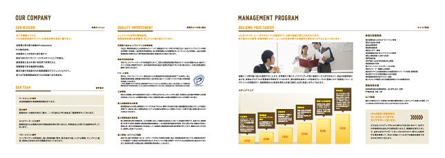 リクルート・採用パンフレットデザイン4P実績/保険・証券・金融・コンサルタント関連
