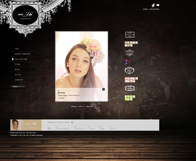 ヘッドドレス・アクセサリー・ブライダルジュエリー販売関連ウェブサイト制作実績3p/物販・ECサービス・ウェブデザイン・宝石販売関連