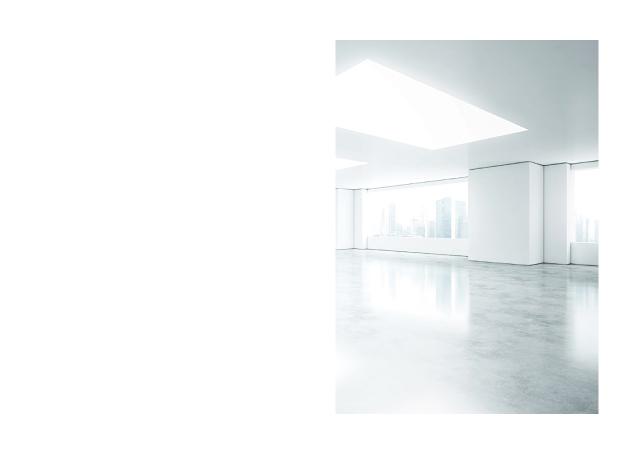 オフィスデザイン設計・施工関連事業会社案内デザイン1P実績