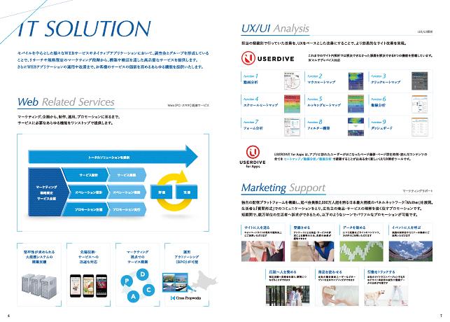 広告代理店・IT関連企業・ネット広告・リスティング広告/会社案内・パンフレットデザイン実績