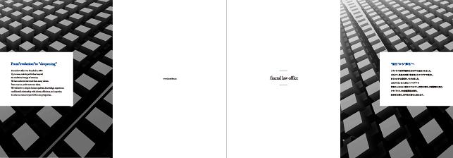 フラクタル法律事務所・士業・弁護士・コンサルタント関連・リーガル/事務所案内デザイン実績・パンフレットデザイン
