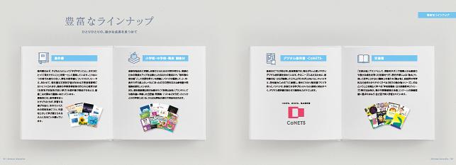 学校・小学校・教育・出版関連/会社案内・企業概要・会社概要デザイン制作実績5p