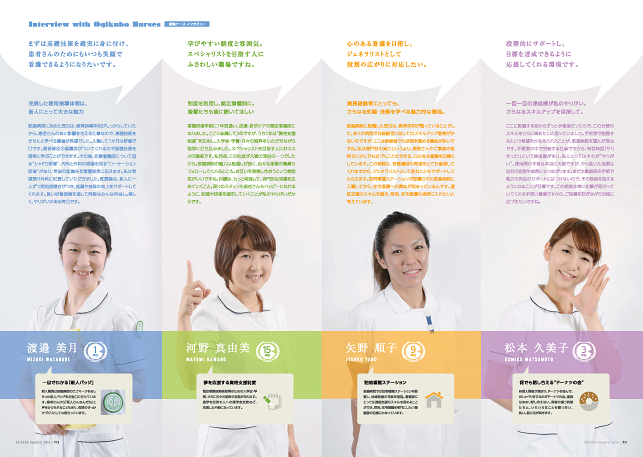 医療関連・医院・病院・採用案内・求人パンフレットデザイン制作実績6p