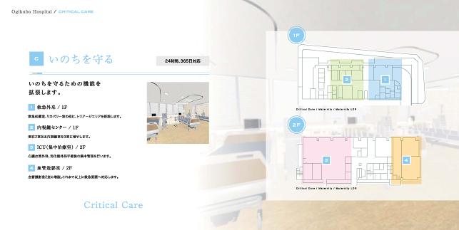 産婦人科医院・婦人科・一般外来施設パンフレットデザイン制作実績3p