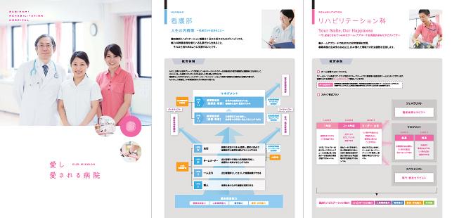 採用パンフレット・採用広告・会社案内デザイン実績/病院・医院関連