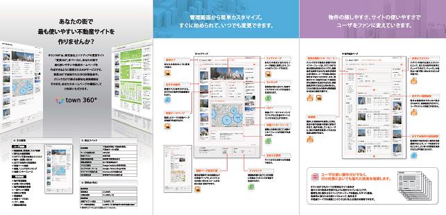 システム開発・アプリ開発・賃貸不動産関連パンフレット/不動産関連
