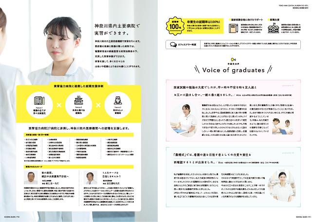 学校案内・看護学校案内デザイン実績/医療・看護学校関連6p