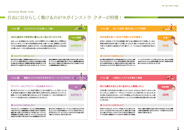 学校案内デザイン・ヨガスクールパンフレット制作実績/ヨガ・美容関連インストラクタースクール学校関連