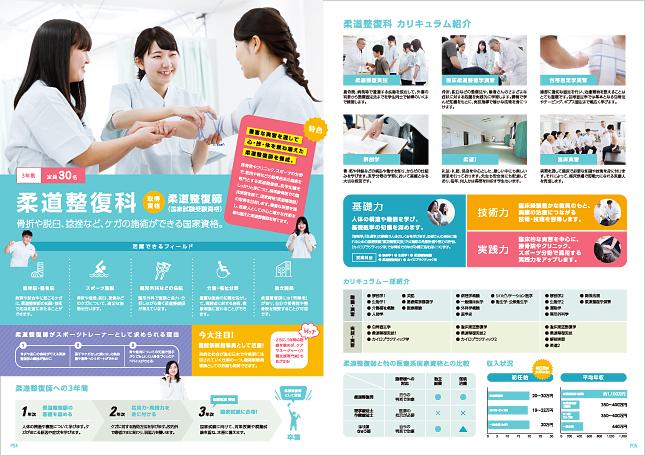 医療ビジネス大学・専門学校・福祉・柔道整復科デザイン制作実績3p