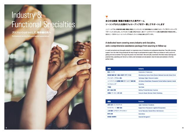 人材採用・採用ビジネス関連会社案内制作実績/英語パンフレット