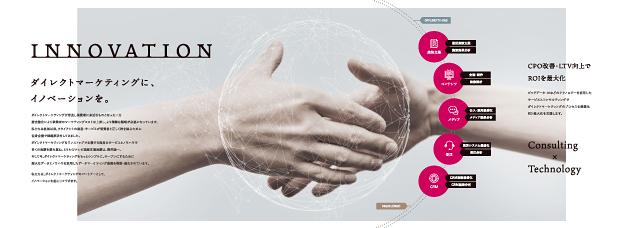 インターネット広告・通信販売広告コンサルティング・ダイレクトマーケティング関連会社概要パンフレットデザイン実績