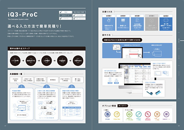 ソフトウエア開発・システム開発・製造業向けソフトウェア・アプリケーション保守/サービスパンフレット・カタログデザイン実績