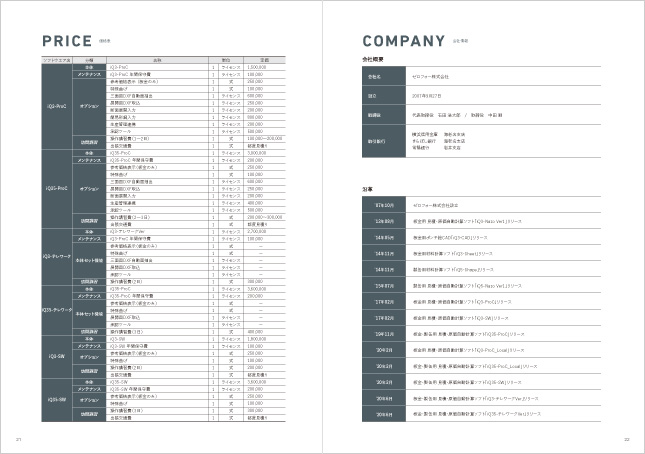 加工業向けシステム開発・製造業向けソフトウェア開発・アプリケーション販売/製品カタログデザイン実績
